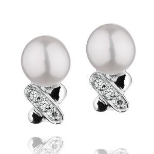 """Сребърни обеци с перла """"Anelia"""""""