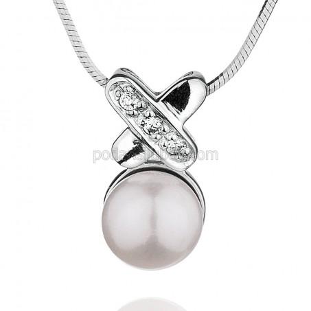 "Сребърна висулка с перла ""Anelia"""
