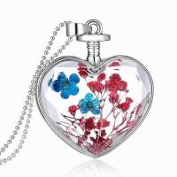 Дамско колие Сърце, средно, цветя микс Пролетно сияние