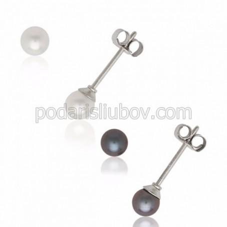 """Обеци от сребро с перла """"Adelaise"""""""