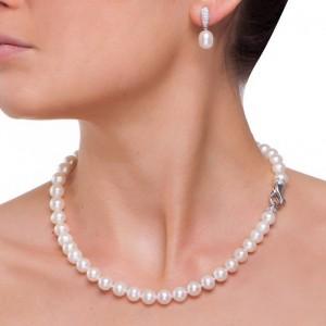 """Обеци от сребро с перла """"Daphne"""""""