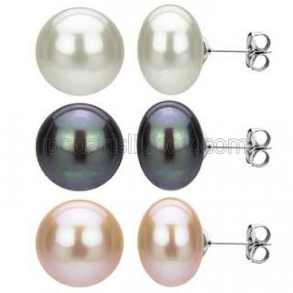 """Обеци от сребро с перла """"Reiko"""""""