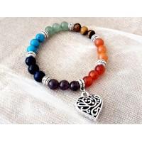 """Дамска гривна """"Любов"""", естествени камъни и минерали"""