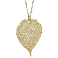 Медальон позлатено листо от трепетлика