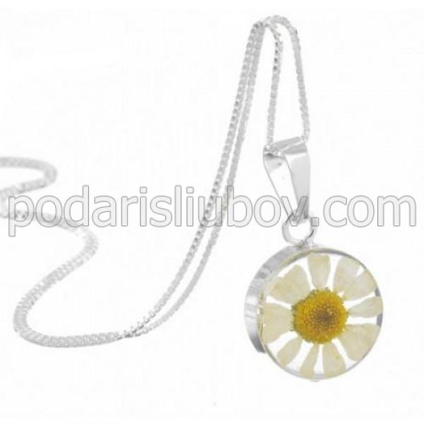 Сребърен медальон, кръгъл, Маргарита