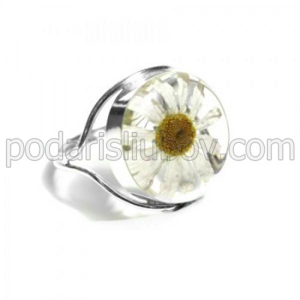 Сребърен пръстен, кръгъл, Маргарита