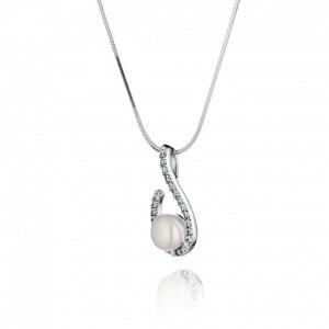 """Сребърна висулка с перла """"Nerina"""""""