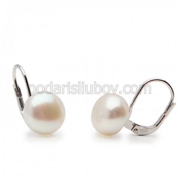 """Сребърни обеци с перла """"Valarry"""""""