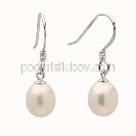 "Сребърни обеци с перли ""Alita"""