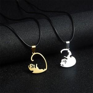 Комплект котки Ин и Ян, допълващи се в СЪРЦЕ, изберете дизайн