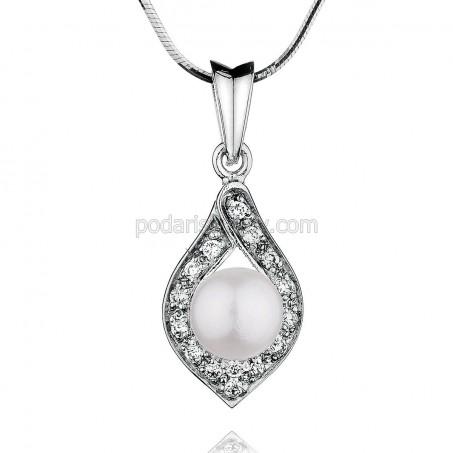 """Висулка от сребро с перла """"Allegria"""""""