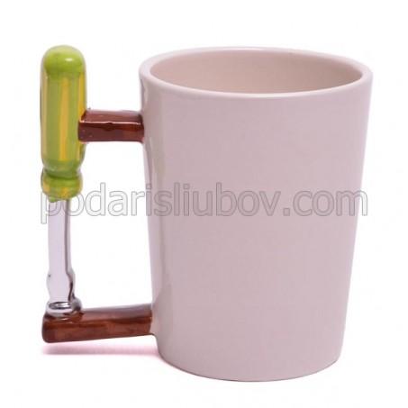 Порцеланова чаша с дръжка отвертка