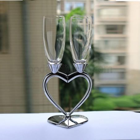 Уникална двойна любовна чаша за шампанско и бяло вино