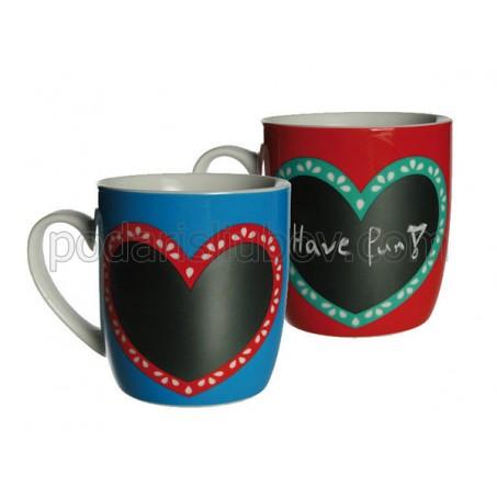 Дъска за писане - чаша за кафе и чай с тебешир
