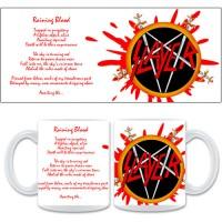 Бяла керамична чаша Slayer