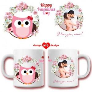 Керамична чаша със сърце или снимка за Свети Валентин!