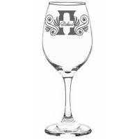 Гравирана чаша за червено вино за Петровден