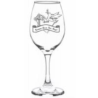 Гравирана чаша за червено вино за Вяра, Надежда, Любов (17.09)