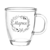 Гравирана чаша за топли напитки, с Ваш текст