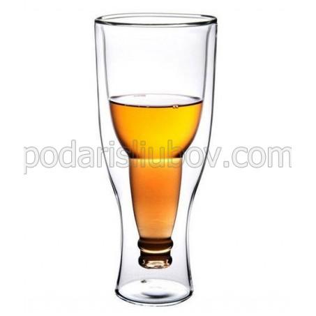 Халба за бира Обърната бутилка наопаки, 350мл