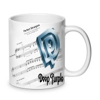 Бяла керамична чаша Deep Purple