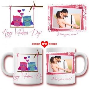 Керамична чаша с Ваша снимка за влюбени