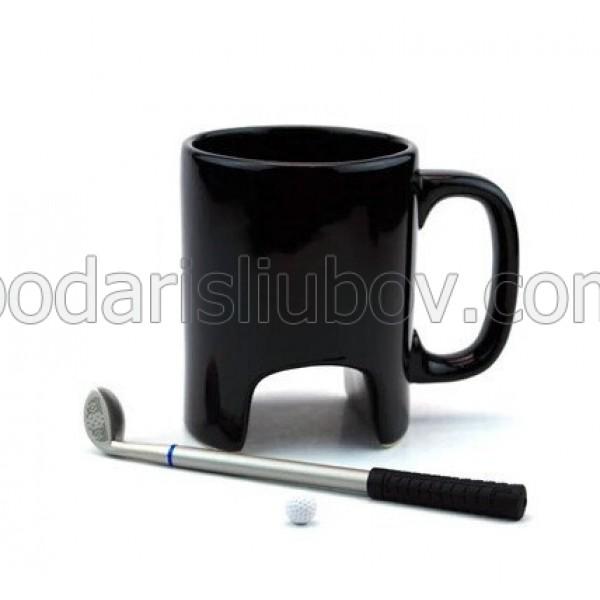 Керамична чаша за кафе и чай Голф със стик-химикал