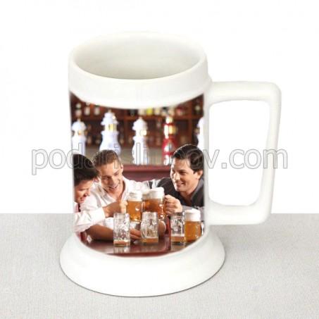 Керамична халба за бира с Ваша снимка или надпис