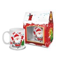 """Весела коледна чаша """"Дядо Коледа"""""""