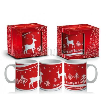 Коледна чаша с еленчета
