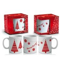 """Чаша с елхички """"Весела Коледа"""""""