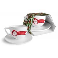 """""""Дядо Коледа"""", чаша за кафе с чинийка"""