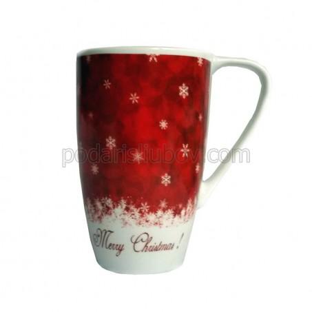 Коледна чаша за капучино или горещ шоколад