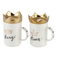 Комплект чаши за кафе с King&Queen