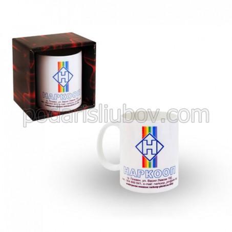 Корпоративна чаша с лого и текст, 4.99лв за количества