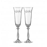 Кристални чаши със сърца, 190мл, комплект от 2бр.