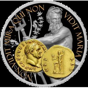 """Сребърна монета """"Нептун, Богът на океаните и водите"""""""