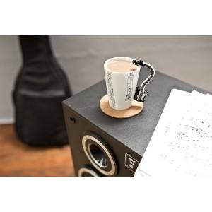 Порцеланова чаша за музикант, с дръжка китара/изберете вид