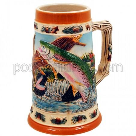 Голяма керамична халба за бира Риба