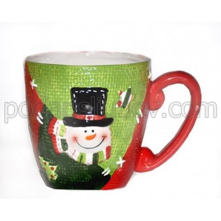 Релефна коледна чаша за кафе или чай