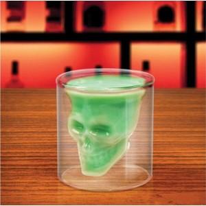 Стъклена чаша - шот череп, 100мл