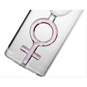 Стъклена чаша за шампанско и бяло вино, Женски знак, 100мл