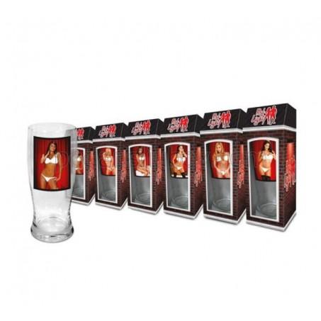 Стриптийз чаша за бира с изображение на жени, 500мл