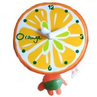 Бебешки часовник Портокал, с плюш