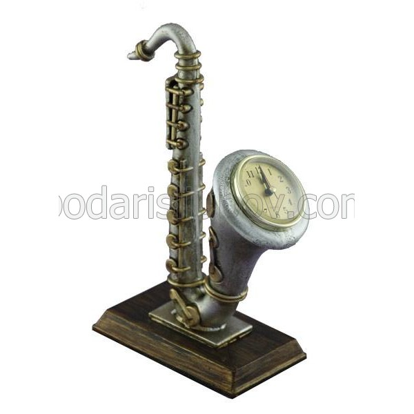Декоративен настолен часовник Саксофон