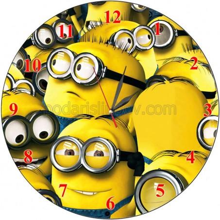 Детски часовник Миньони отблизо, d 26см