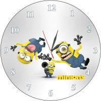 Детски часовник три миньона, d 26см