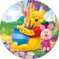 Детски стенен часовник Мечо пух, d 26см