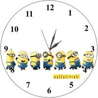 Детски стенен часовник Миньончета, d 26см