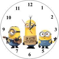 Детски стенен часовник Миньони, d 26см